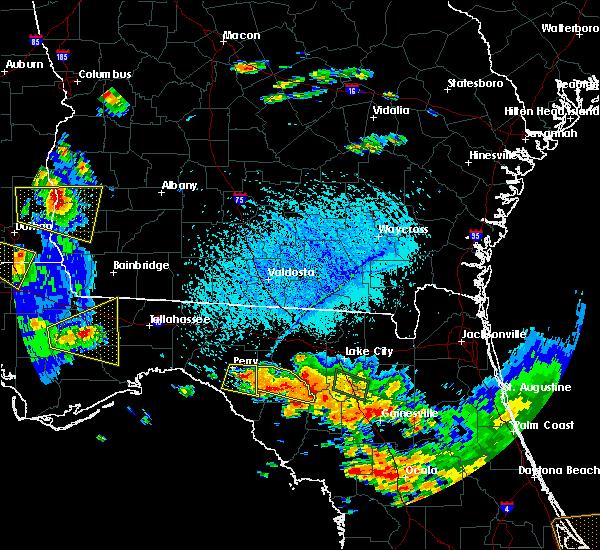 Radar Image for Severe Thunderstorms near Branford, FL at 7/22/2018 4:11 PM EDT