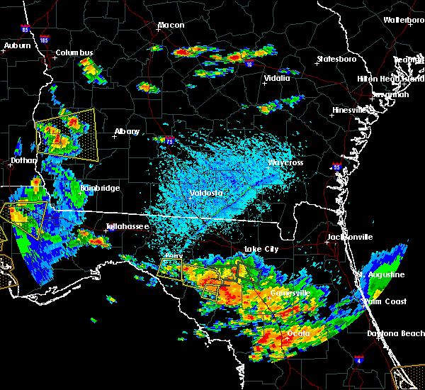 Radar Image for Severe Thunderstorms near Branford, FL at 7/22/2018 4:36 PM EDT