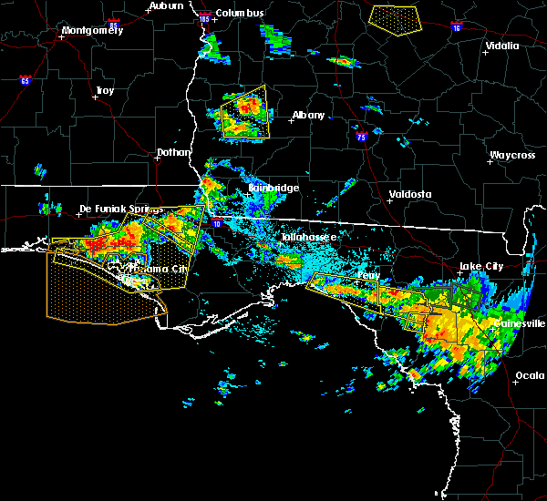 Radar Image for Severe Thunderstorms near Perry, FL at 7/22/2018 4:52 PM EDT