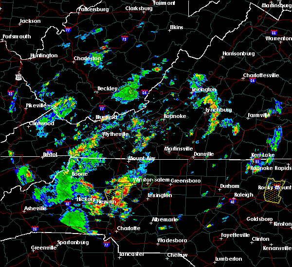 Radar Image for Severe Thunderstorms near Statesville, NC at 7/22/2018 5:24 PM EDT
