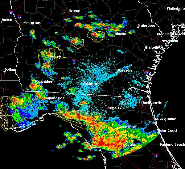 Radar Image for Severe Thunderstorms near Branford, FL at 7/22/2018 5:28 PM EDT