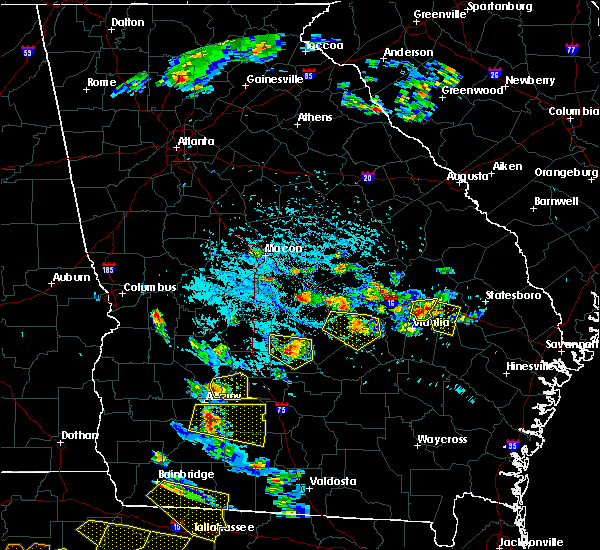 Radar Image for Severe Thunderstorms near Stillmore, GA at 7/22/2018 5:43 PM EDT