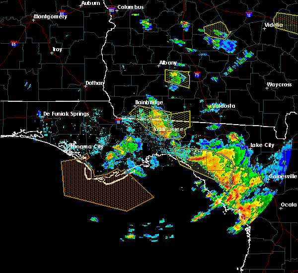 Radar Image for Severe Thunderstorms near Tallahassee, FL at 7/22/2018 6:05 PM EDT