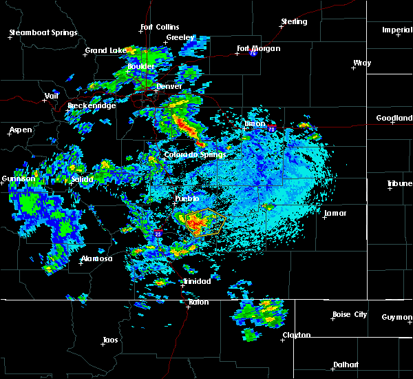 Radar Image for Severe Thunderstorms near Fowler, CO at 7/22/2018 4:17 PM MDT