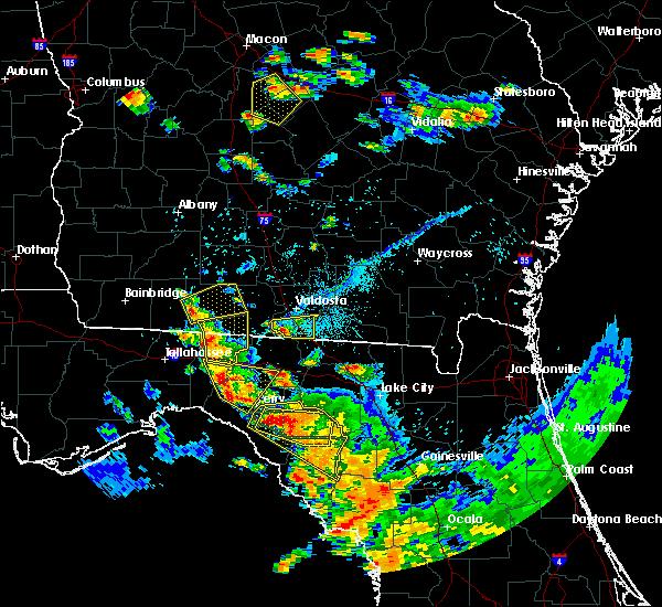 Radar Image for Severe Thunderstorms near Lake Park, GA at 7/22/2018 6:29 PM EDT