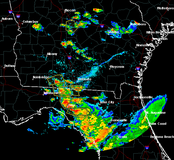 Radar Image for Severe Thunderstorms near Madison, FL at 7/22/2018 6:44 PM EDT