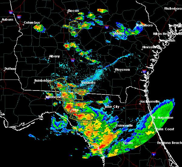Radar Image for Severe Thunderstorms near Lake Park, GA at 7/22/2018 6:45 PM EDT