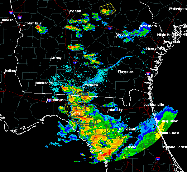 Radar Image for Severe Thunderstorms near Perry, FL at 7/22/2018 6:57 PM EDT