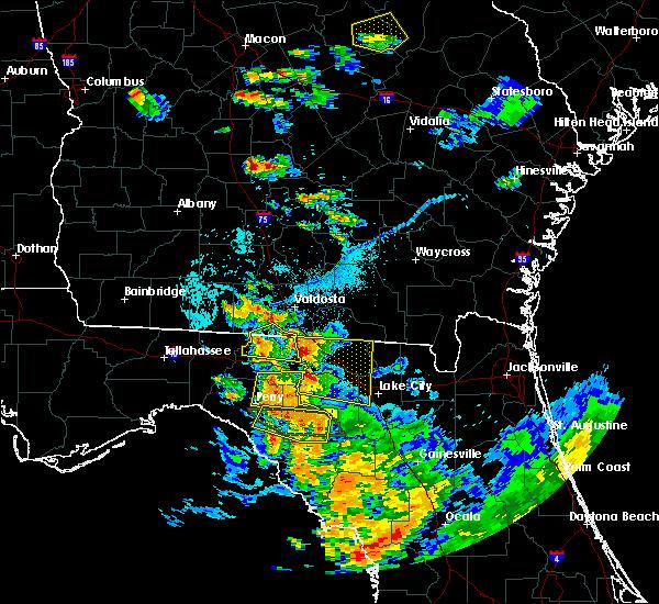 Radar Image for Severe Thunderstorms near Jennings, FL at 7/22/2018 7:03 PM EDT