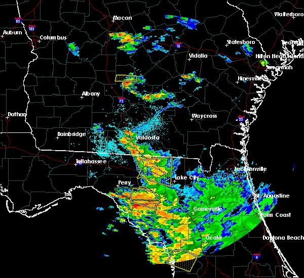Radar Image for Severe Thunderstorms near Branford, FL at 7/22/2018 7:33 PM EDT