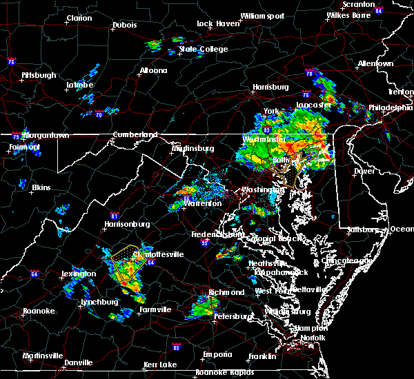 Radar Image for Severe Thunderstorms near University of Virginia, VA at 7/22/2018 7:56 PM EDT