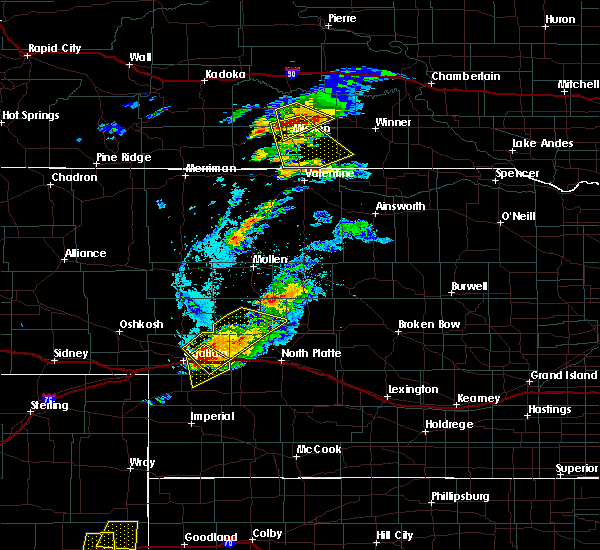 Radar Image for Severe Thunderstorms near Roscoe, NE at 7/22/2018 6:45 PM MDT
