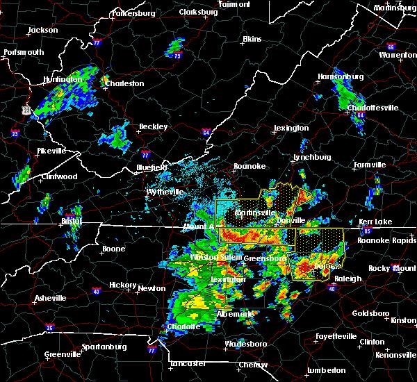 Radar Image for Severe Thunderstorms near Nathalie, VA at 7/22/2018 9:16 PM EDT