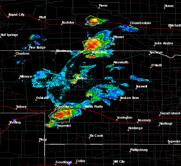 Radar Image for Severe Thunderstorms near Roscoe, NE at 7/22/2018 7:22 PM MDT