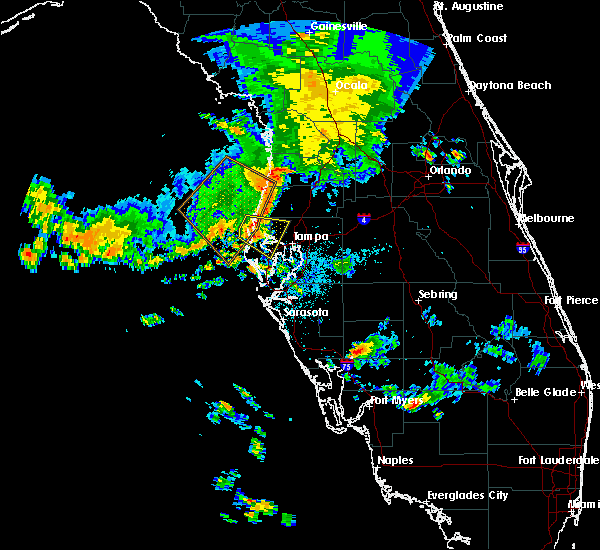 Radar Image for Severe Thunderstorms near Tampa, FL at 7/23/2018 4:10 AM EDT