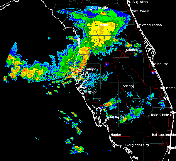 Radar Image for Severe Thunderstorms near Tampa, FL at 7/23/2018 4:25 AM EDT