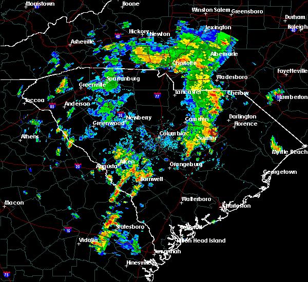 Radar Image for Severe Thunderstorms near Lynchburg, SC at 7/23/2018 5:25 PM EDT