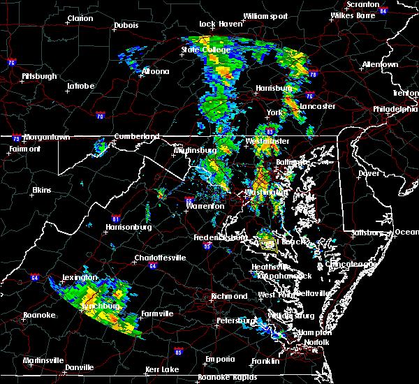 Radar Image for Severe Thunderstorms near Leonardtown, MD at 7/23/2018 8:10 PM EDT
