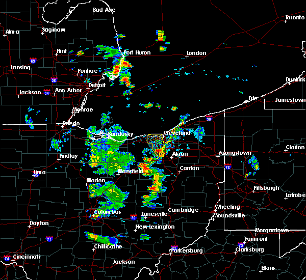 Radar Image for Severe Thunderstorms near Broadview Heights, OH at 7/23/2018 8:22 PM EDT