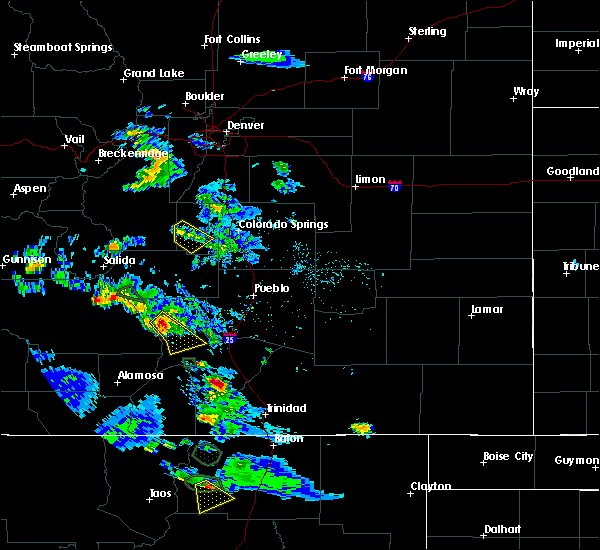 Radar Image for Severe Thunderstorms near Midland, CO at 7/24/2018 4:55 PM MDT
