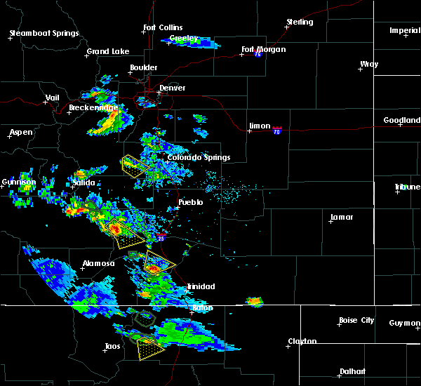 Radar Image for Severe Thunderstorms near Midland, CO at 7/24/2018 5:07 PM MDT