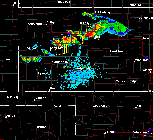Radar Image for Severe Thunderstorms near Healy, KS at 7/25/2018 6:43 PM CDT