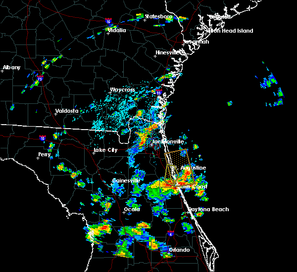 Radar Image for Severe Thunderstorms near St. Augustine South, FL at 7/26/2018 2:40 PM EDT
