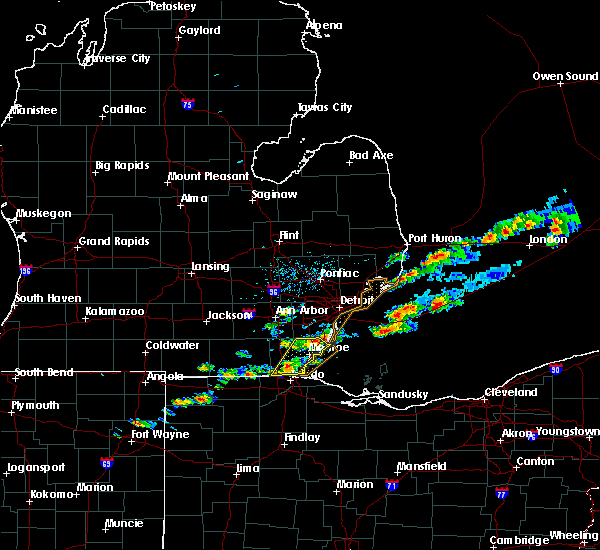 Radar Image for Severe Thunderstorms near Toledo, OH at 7/26/2018 2:52 PM EDT