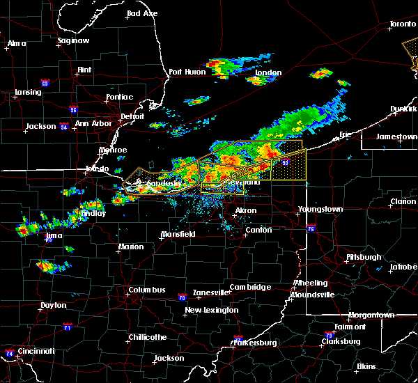 Radar Image for Severe Thunderstorms near Roaming Shores, OH at 7/26/2018 5:56 PM EDT