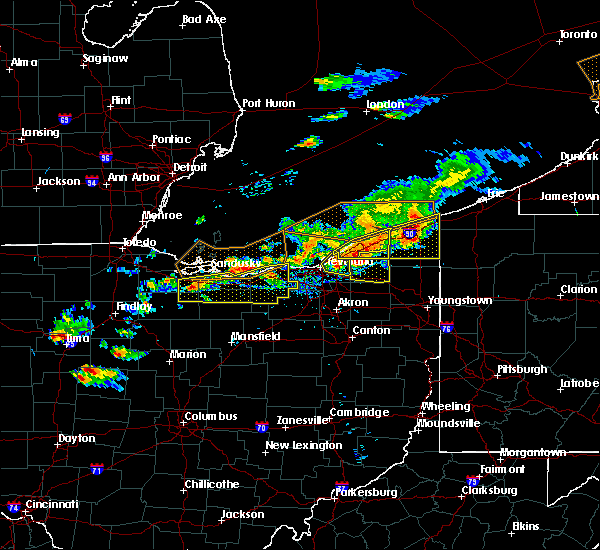 Radar Image for Severe Thunderstorms near Oberlin, OH at 7/26/2018 6:24 PM EDT