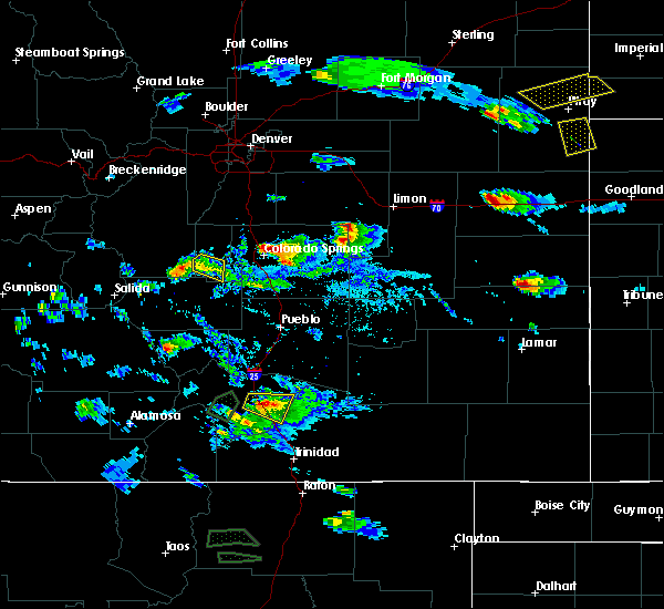 Radar Image for Severe Thunderstorms near Midland, CO at 7/26/2018 4:30 PM MDT