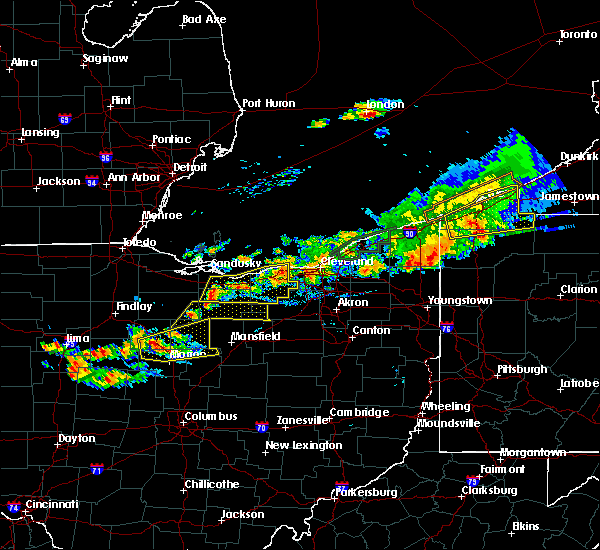 Radar Image for Severe Thunderstorms near Rochester, OH at 7/26/2018 7:17 PM EDT