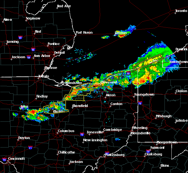 Radar Image for Severe Thunderstorms near Rochester, OH at 7/26/2018 7:35 PM EDT