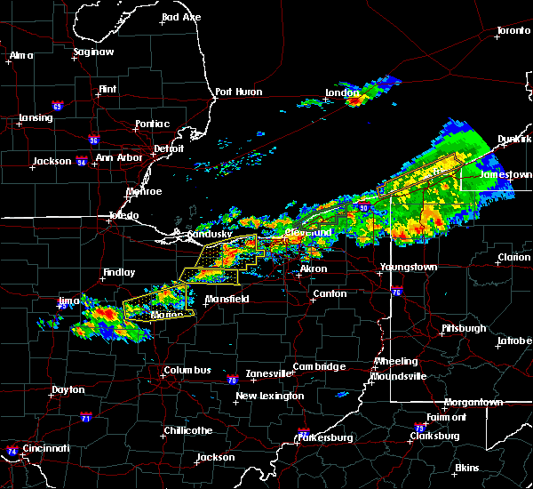 Radar Image for Severe Thunderstorms near Oberlin, OH at 7/26/2018 7:47 PM EDT