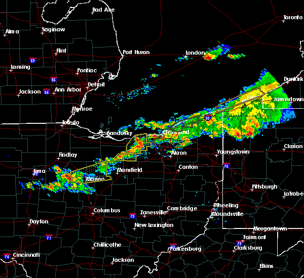 Radar Image for Severe Thunderstorms near Rochester, OH at 7/26/2018 7:58 PM EDT