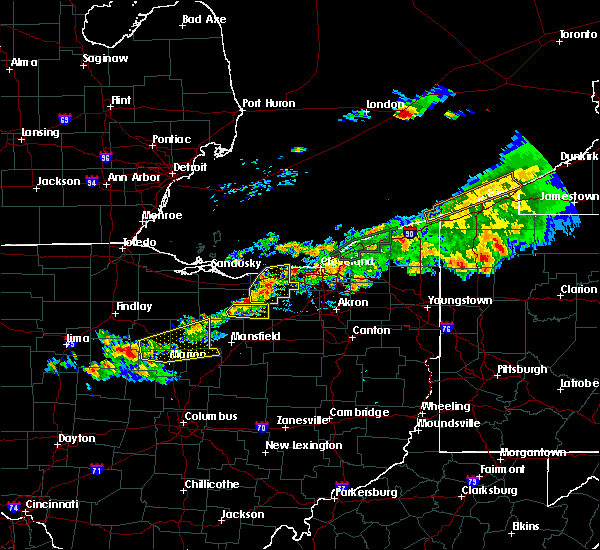 Radar Image for Severe Thunderstorms near Oberlin, OH at 7/26/2018 7:58 PM EDT
