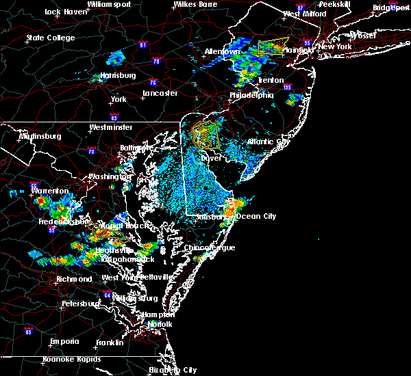 Radar Image for Severe Thunderstorms near New Castle, DE at 7/27/2018 2:19 PM EDT