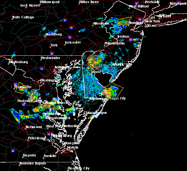 Radar Image for Severe Thunderstorms near New Castle, DE at 7/27/2018 2:35 PM EDT