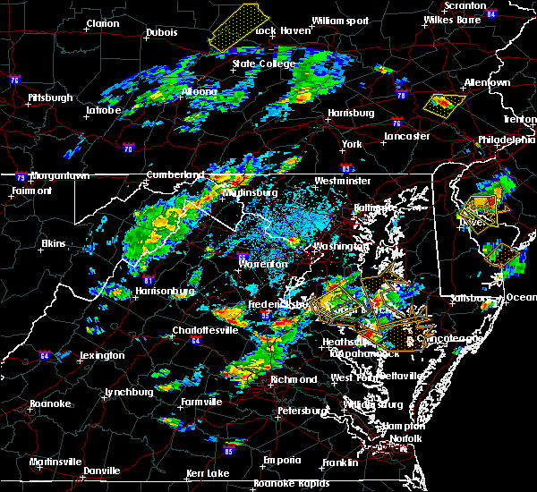 Radar Image for Severe Thunderstorms near Leonardtown, MD at 7/27/2018 3:32 PM EDT