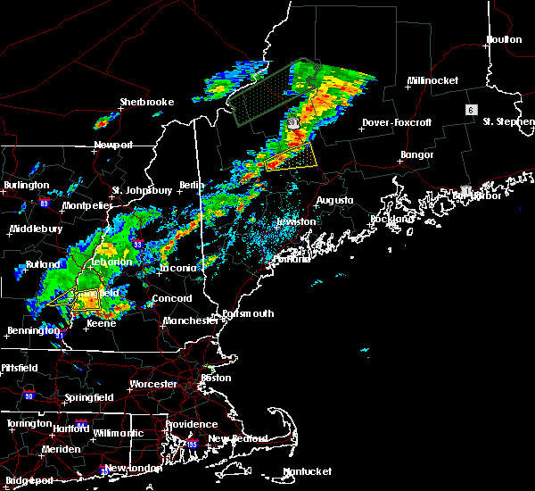 Radar Image for Severe Thunderstorms near Anson, ME at 7/27/2018 4:10 PM EDT