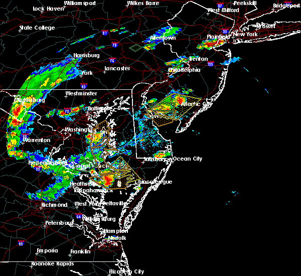 Radar Image for Severe Thunderstorms near Buena, NJ at 7/27/2018 4:22 PM EDT