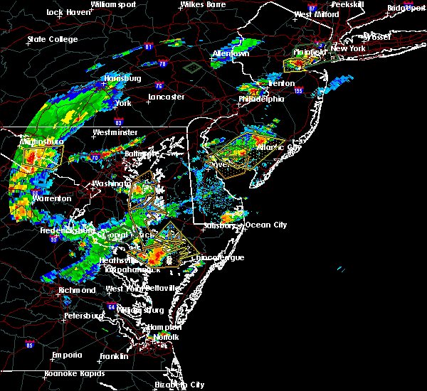 Radar Image for Severe Thunderstorms near Buena, NJ at 7/27/2018 4:37 PM EDT