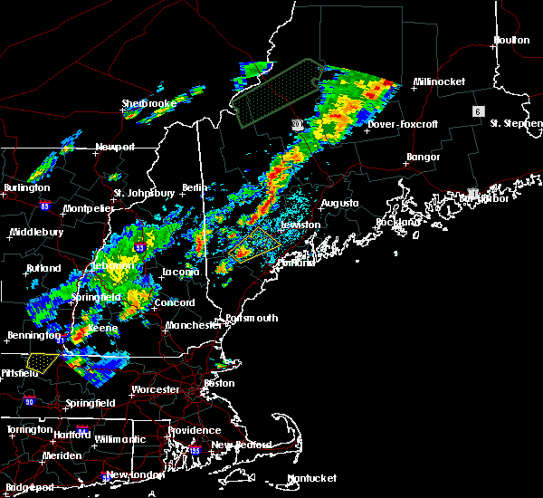 Radar Image for Severe Thunderstorms near Auburn, ME at 7/27/2018 4:49 PM EDT