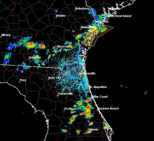 Radar Image for Severe Thunderstorms near Darien, GA at 7/27/2018 5:08 PM EDT