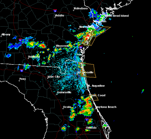Radar Image for Severe Thunderstorms near Palm Valley, FL at 7/27/2018 5:25 PM EDT