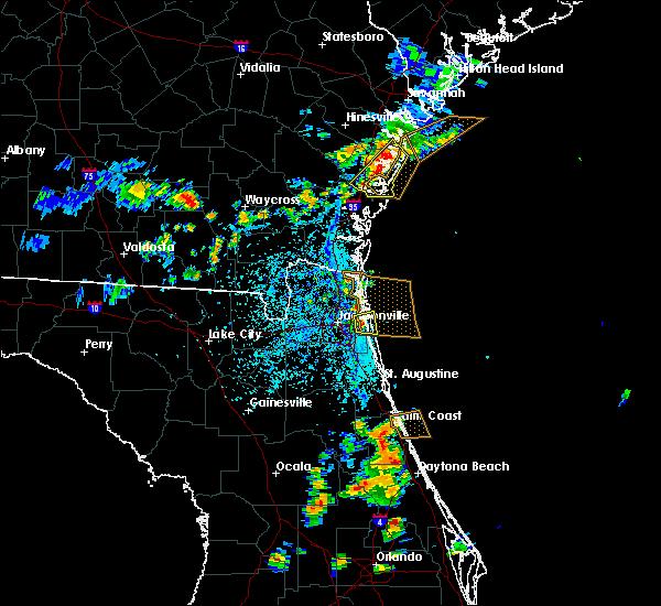 Radar Image for Severe Thunderstorms near Jacksonville, FL at 7/27/2018 5:25 PM EDT