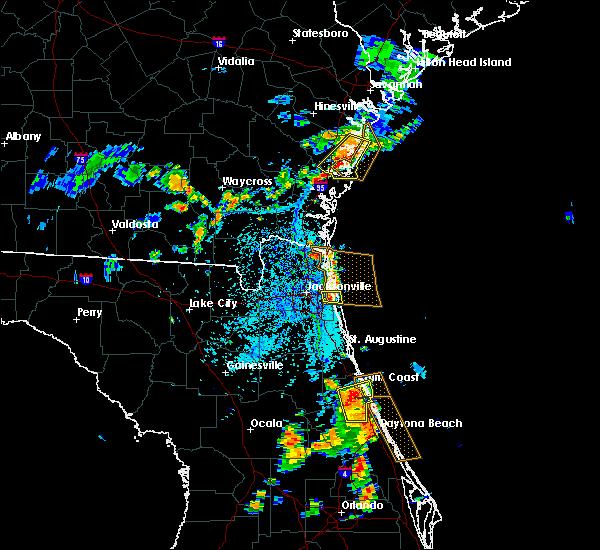Radar Image for Severe Thunderstorms near Jacksonville, FL at 7/27/2018 5:41 PM EDT