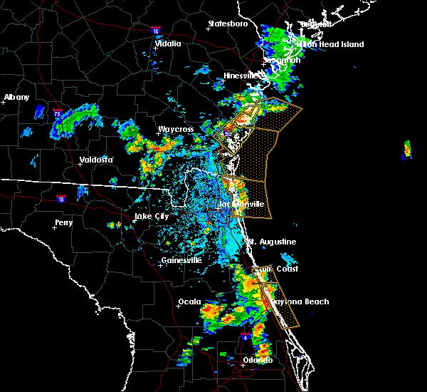 Radar Image for Severe Thunderstorms near Darien, GA at 7/27/2018 5:57 PM EDT