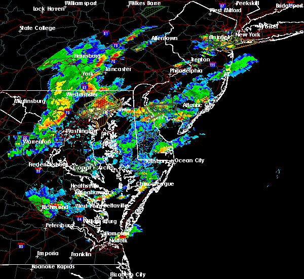 Radar Image for Severe Thunderstorms near Riverside, MD at 7/27/2018 5:58 PM EDT
