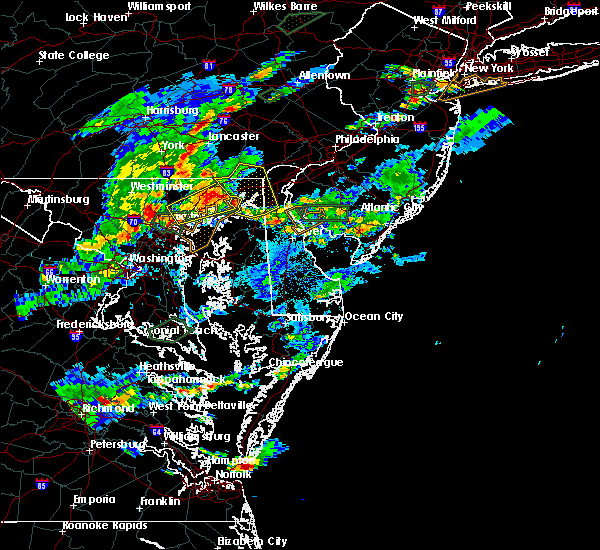 Radar Image for Severe Thunderstorms near Riverside, MD at 7/27/2018 6:10 PM EDT